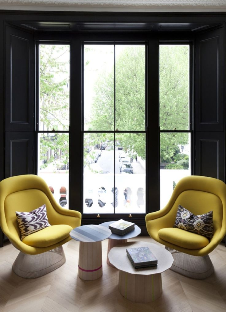 Kensington Townhouse | The Neo-Trad. Glamorous Living RoomsYellow  ChairsYellow ... - 791 Best Images About Mid-Century Living Room <3 On Pinterest