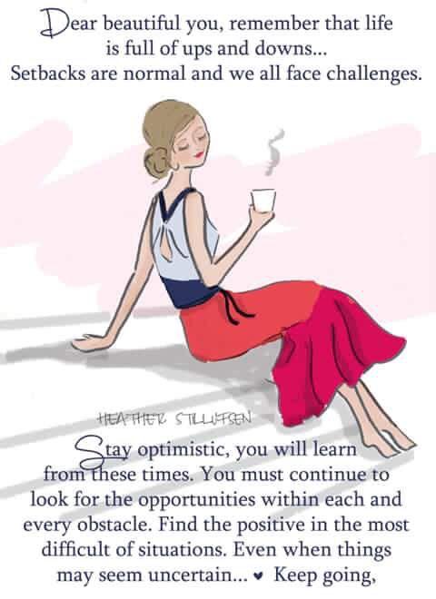 Stay optimistic ~ Rose Hill Designs by Heather A Stillufsen