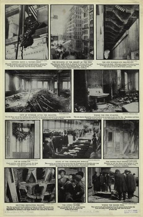 March 25, 1911. New York, New York. 4:40 PM.    Triangle Shirtwaist Factory.
