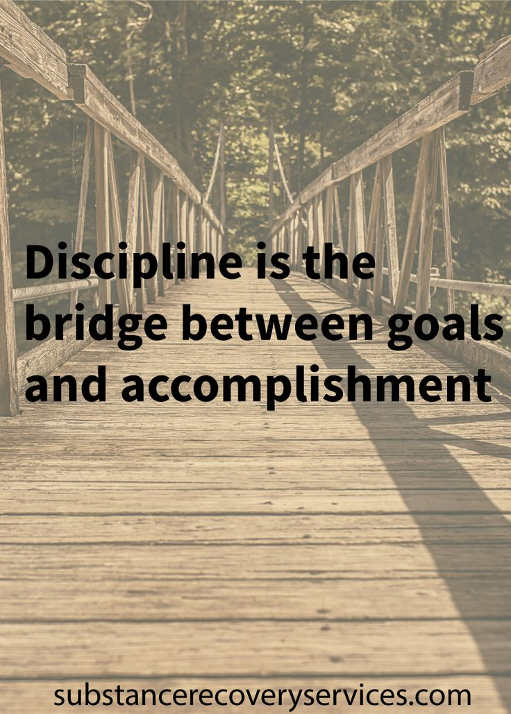 Inspirational Quotes: Discipline is the bridge between goals and accomplishment  Follow: https://www.pinterest.com/SubstanceAR/