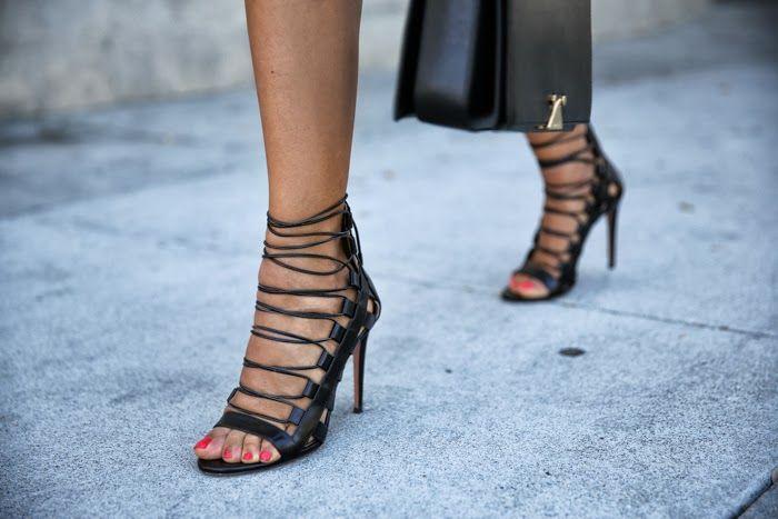 Aquazzura Amazon lace-up ankle-wrap sandals | If the Shoe Fits ...