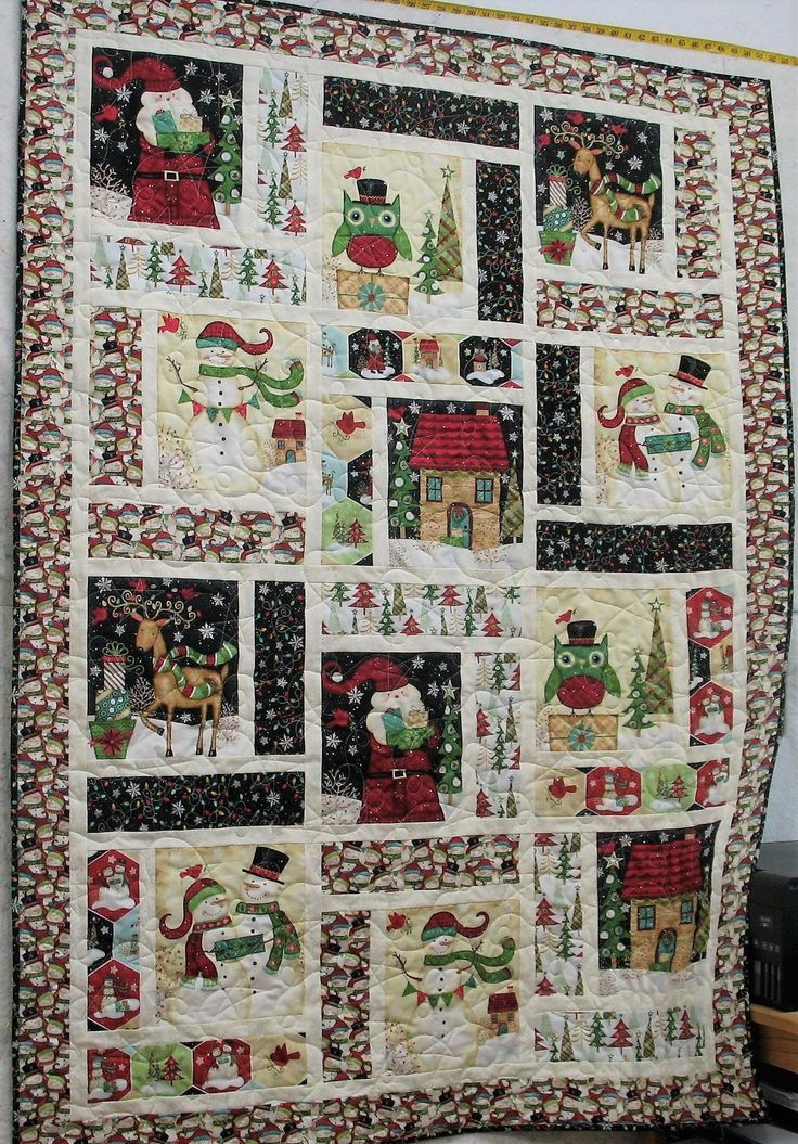 How To Make A Christmas Panel Quilt In 2020 Fabric Panel Quilts Panel Quilt Patterns Christmas Quilt Patterns