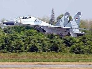 Indonesian Air Force Sukhoi Su-30MK2 fighter.