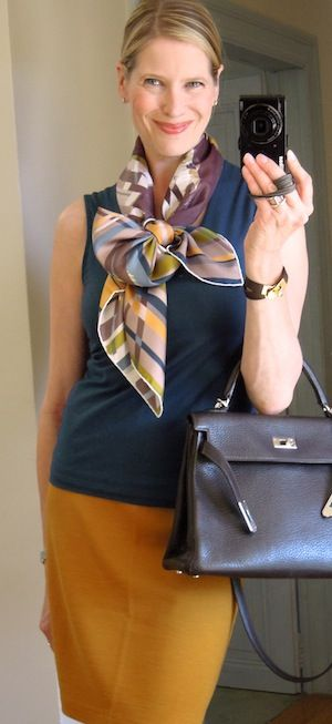 MaiTai's Picture Book: Capsule wardrobe #109 - early autum - lovely scarf tying