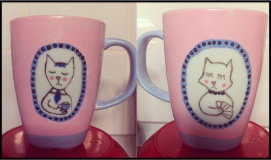 posh cats mug