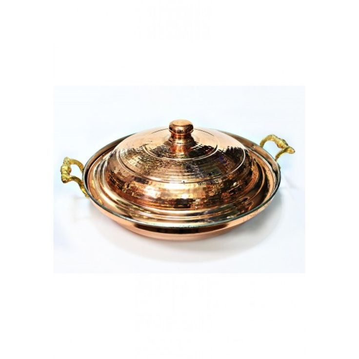 Red Copper Pan is unique kitchen pan for you. It is completely hand hammered red copper pan. This Red Copper Pan is special handmade red copper pan and perfect gift. Red Copper Pan is made of solid copper. It has excellent heat conductivity. You can cook omelet and other stuff.