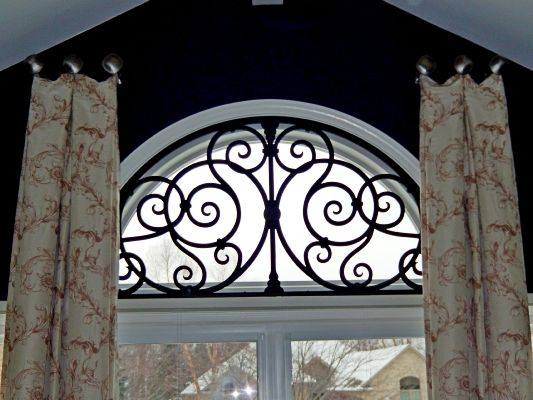 Wrought Iron Cornice : Best images about arched window treatments on pinterest