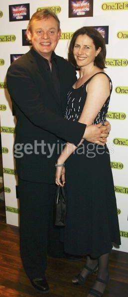 Actor Martin Clunes and wife, producer of Doc Martin, Phillipa Braithwaite