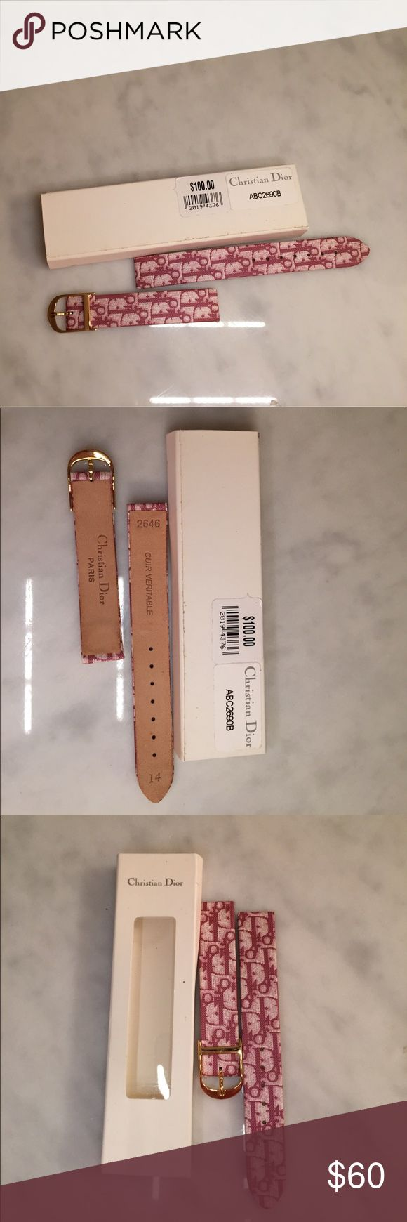 NWT Christian Dior watch strap Leather strap with Dior written on it. Christin Dior Accessories Watches