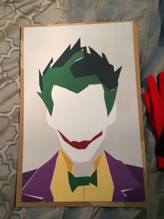 Joker Minimalist Print by BatSpats on Etsy Joker
