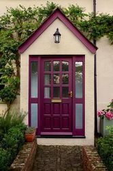 Gorgeous purple door. Door Weathershield Royal Berry™ Exterior Gloss. Walls Weathershield & 36 best Home Exterior Ideas images on Pinterest | Exterior Entrance ...