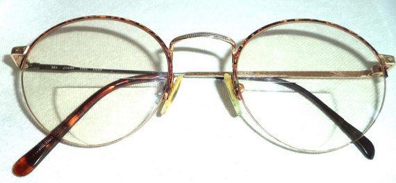 EMANUEL UNGARO Unisex Funky Hip LENNON Round/Tortoise/Logo 49-17 Oxford vintage Designer Full Rim Silver Tone Rx Sunglasses Frame Eyeglasses  MushkaVintage3 on Etsy