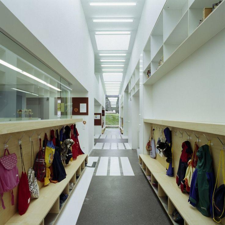 Kiga Kindergarten in Austria | Storage / seating
