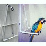 PVC Shower Head Hanging Parrot Perch