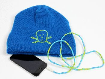 Skull Cap with Wrapped Ear Buds DMC USA
