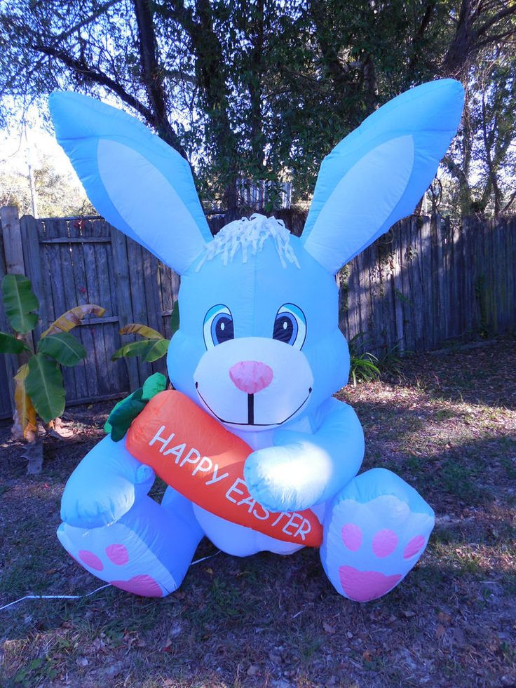 GEMMY AIRBLOWN INFLATABLE EASTER BUNNY 6 FEET TALL US $63.99 Free Shipping  Ramseyfamilyshoppe Panama City Fl