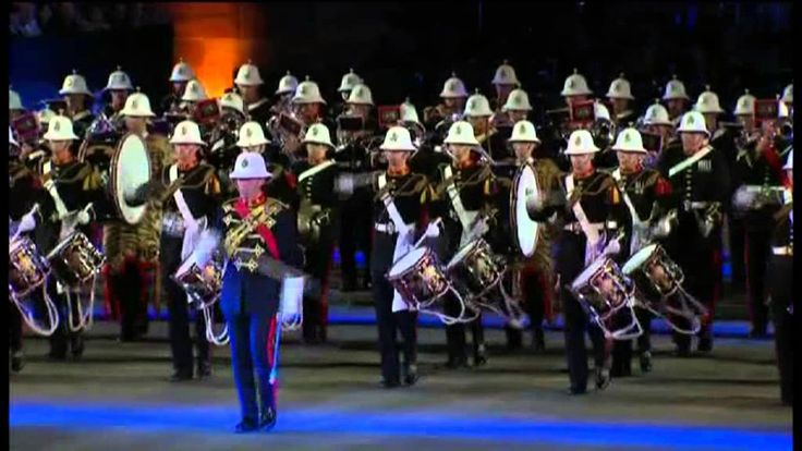 Band of HM Royal Marines (England) am Basel Tattoo 2010