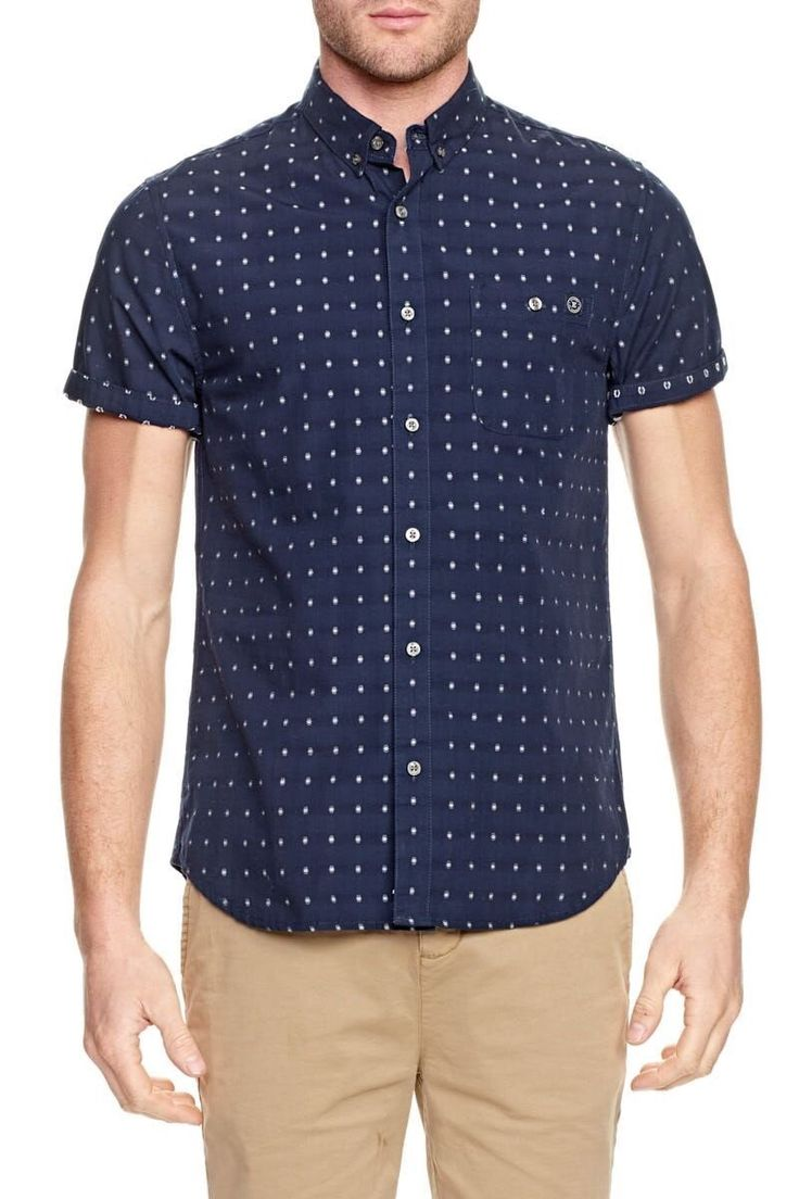 ELWOOD CLOTHING - Foster Short Sleeve Shirt Dark Navy