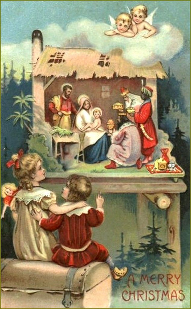 cartes anciennes Joyeux Noël   Balades comtoises | Joyeux noel