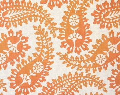 Big Paisley in Apricot by Galbraith & PaulFirst Prints, Kitchens Accent, Paisley Fabrics, Doces Paul, Orange Paisley, Big Paisley, Mr. Big, Upholstery Fabrics, Cute Wallpapers