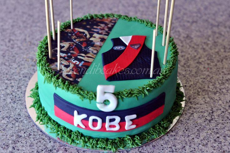 Essendon AFL cake