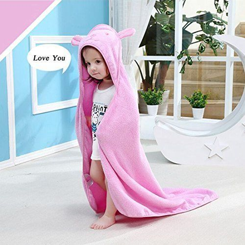 Baby Cotton Hooded Towel Bath Bear Ear Soft Girls Infant Toddler Shower Gift NEW #BabyHoodedTowel