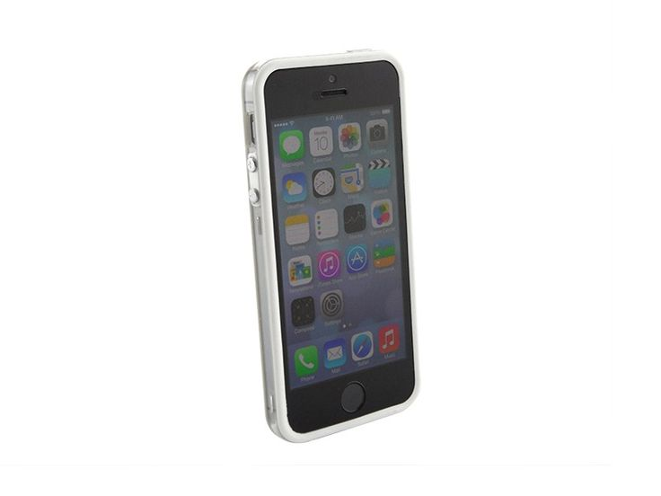 Bumper iPhone 5/5S transparant Wit