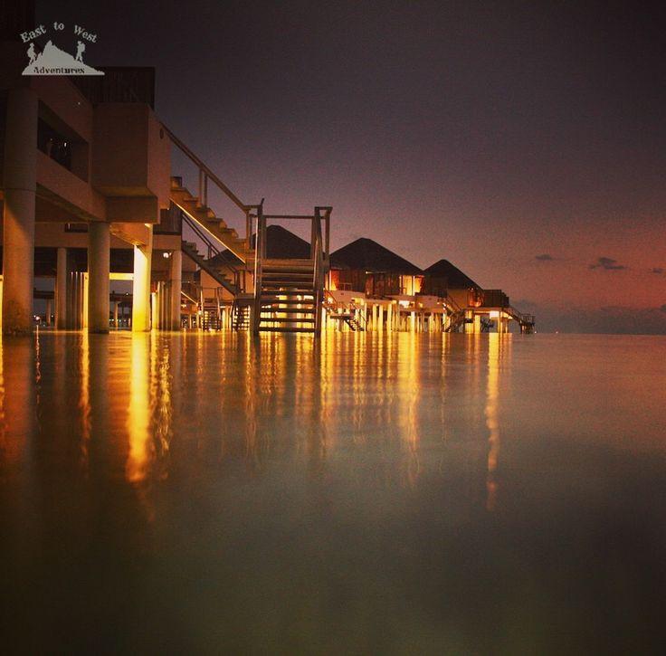 Disappear into the night and find your dream 🌌سَكَنَ الليلْ وفي  ثوب السكونْ .. تَخْتَبِي الأحلامْ #easttowestadventures #Maldives #travelblogger  #travelphotography #adaraanprestige  #honeymoon #5starmeal #watervilla #privatepool #indianocean #whitesand #palmtrees #privateisland #onceinalifetime #stepstothesea