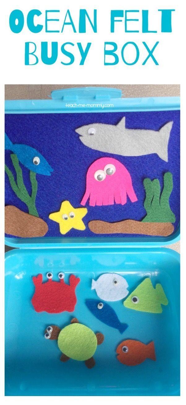 Ocean Felt Busy Box Make this fun Ocean themed busy box from a lunch box and a few scraps of felt!