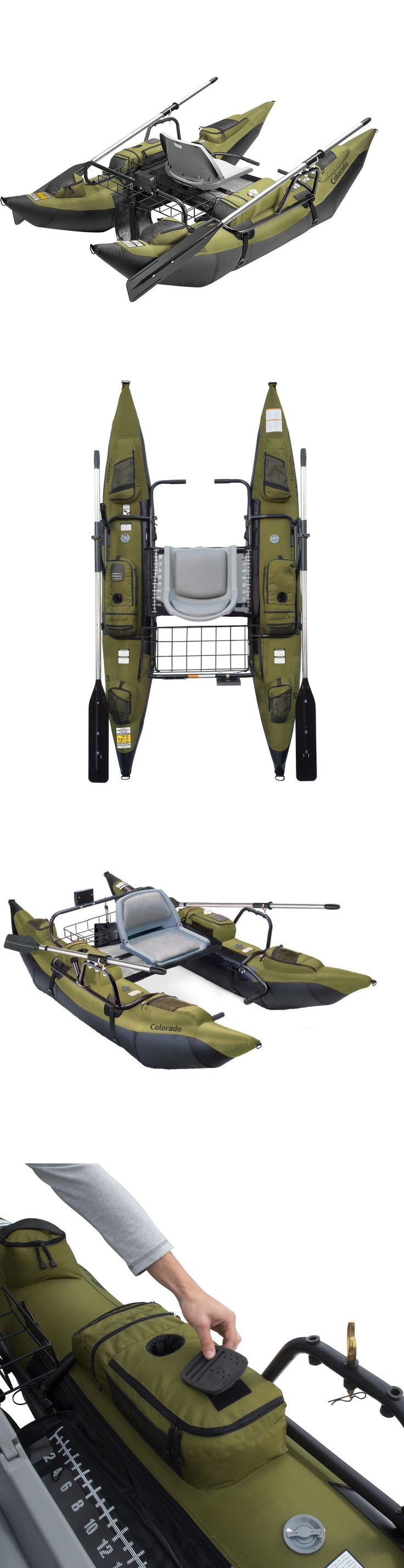 Other Kayak Canoe and Rafting 36123: Pontoon Fishing Boat Inflatable W Motor Mount River Lake Sea Outdoor Sale New -> BUY IT NOW ONLY: $598.75 on eBay!