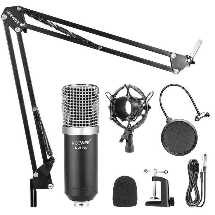 Podcast Microphone Studio Recording Kit,Condenser Stand Perfect Collocation #Neewer