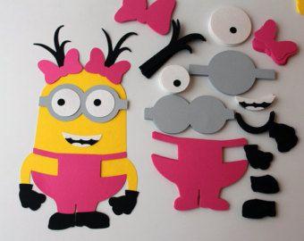 Girl minion birthday banner Girl minions by RaisinsPartySupplies