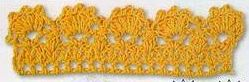 Patrón #1288: Puntilla a Crochet | CTejidas [Crochet y Dos Agujas]