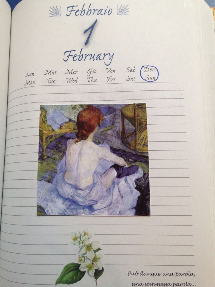 February diary illustrations