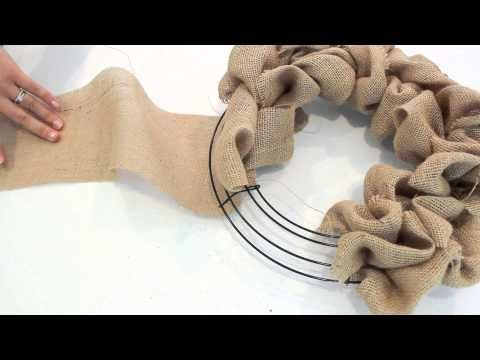 How To Make A Burlap Wreath | Quick Tutorial