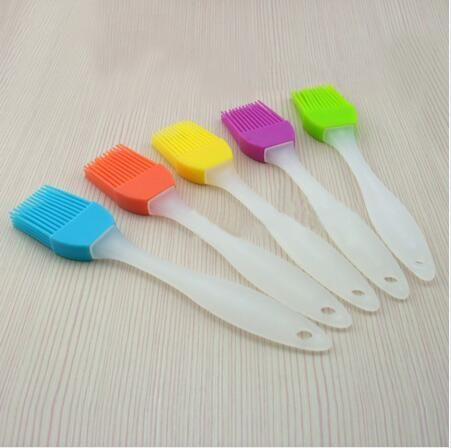 2Pcs lots Eco-friendly Silicone Liquid Oil Cake Brush Tools Butter Bread Pastry Brush Baking Tool Sauce Vinegar Cooking Tools