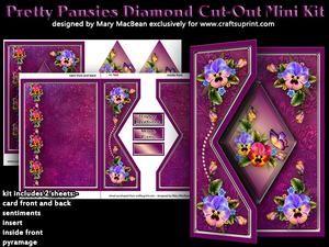 Pretty Pansies - Diamond Cut-out Mini Kit