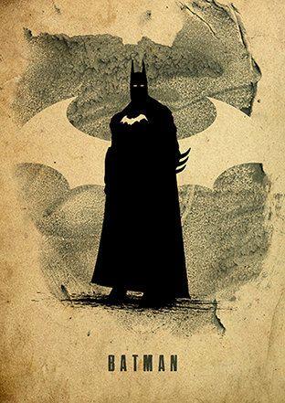 Liga de justicia Batman minimalista cartel por moonposter en Etsy