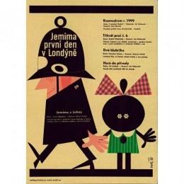 JEMIMA PRVNI DEN V LONDYNE  Czech film poster, 1968