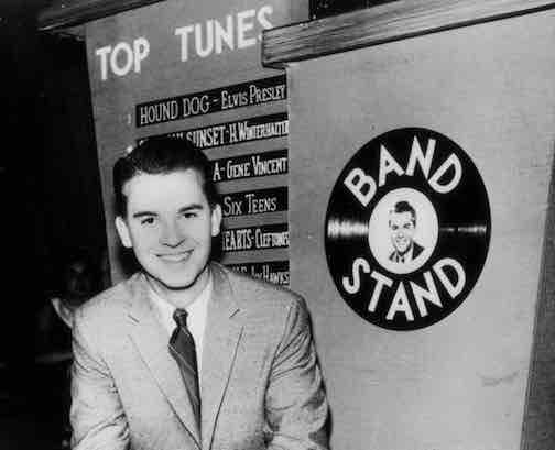 American Bandstand – an American music-performance show that aired in various versions from 1952 to 1989 and was hosted from 1956 until its final season by Dick Clark (pictured), who also served as producer. The show featured teenagers dancing to Top 40 music introduced by Clark.