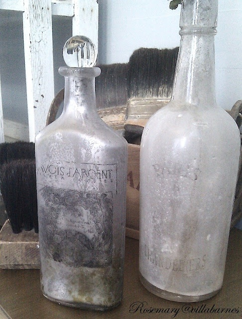 Great tutorial on how to transfer images to bottles, then make them look super old!