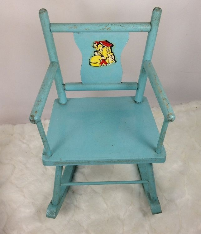 Vintage 1930s Doll Rocking Chair Lady Lived in Shoe Motif! - 270 Best Children`s Chairs Images On Pinterest Primitive Decor