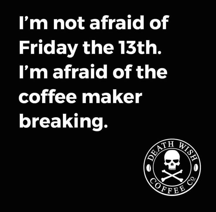 FEar of coffee maker breaking