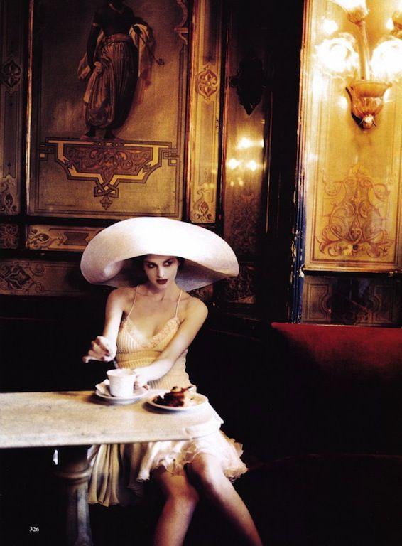 Venetian Class: Kylie Bax is Flapper Chic by Ellen von Unwerth for US Vogue