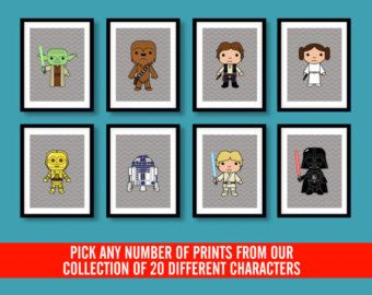 Star Wars inspiriert Wandkunst, Childrens Wand Kunst, Star Wars, Star Wars Dekor, Kinderzimmer Wandkunst, Kinderzimmer Star Wars, Star Wars Zimmer