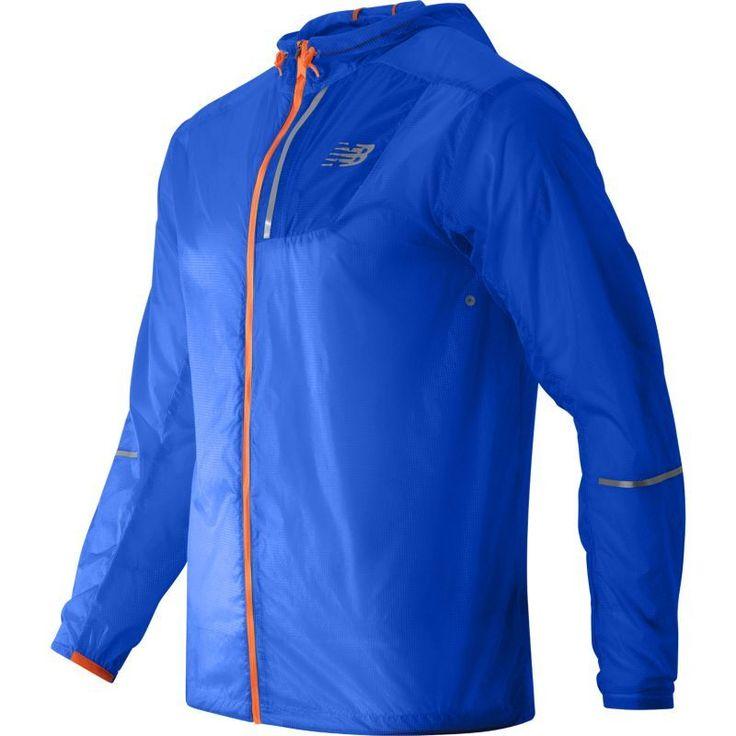 New Balance Men's Lite Packable Running Jacket, Size: Large, Blue