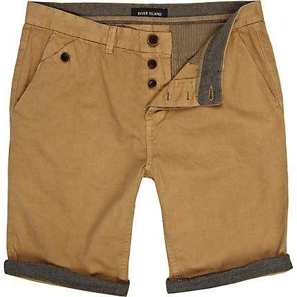 Brown turn up chino shorts - casual shorts - shorts - men (£25.00) - Svpply