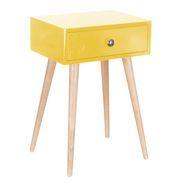 Jack Yellow Bedside Table $89.99 zanui.com.au