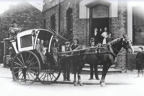 The Hansom Cab designed by Joseph Hansom in Hinckley