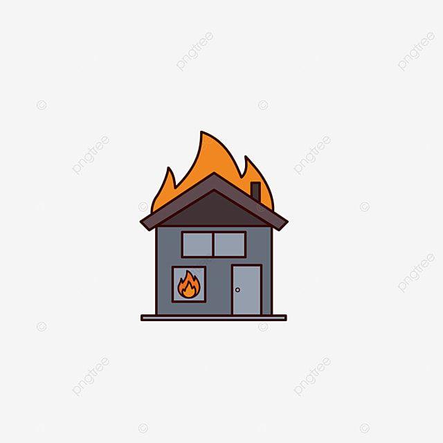 منزل الكرتون على أيقونة النار بيت الكرتون على النار منزل على النار Png والمتجهات للتحميل مجانا Cartoon House Fire Icons House Fire